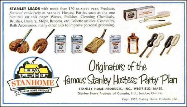 from their website in stanley home products