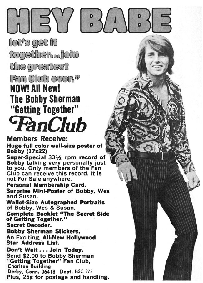 Bobby sherman fan club